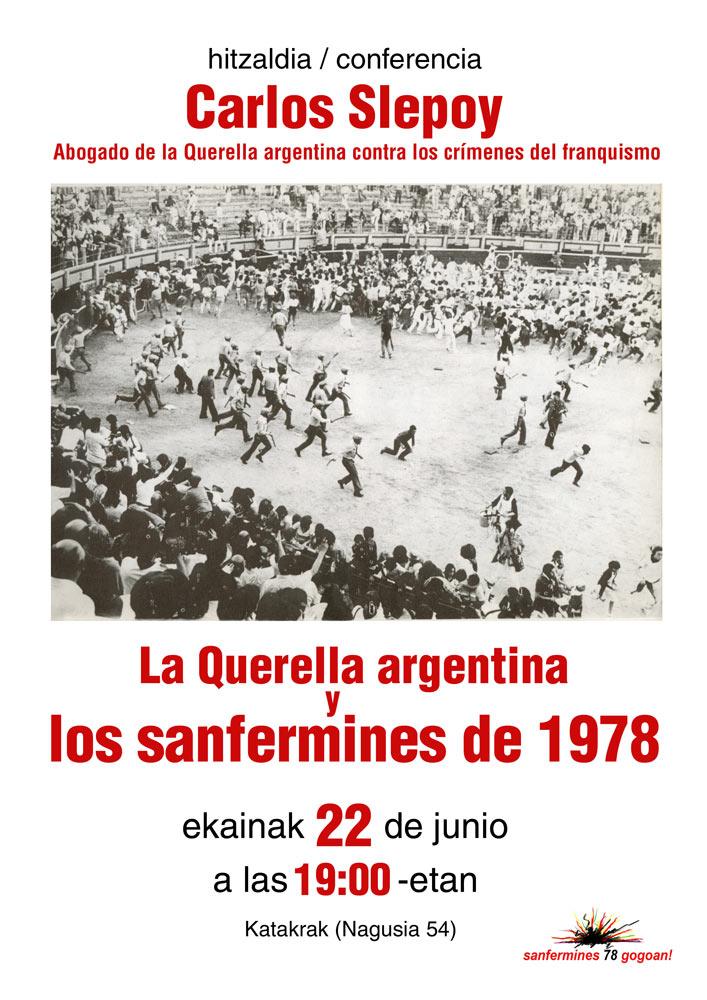 La Querella argentina y los sanfermines de 1978
