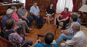 Con el alcalde de Pamplona 2015-06-23